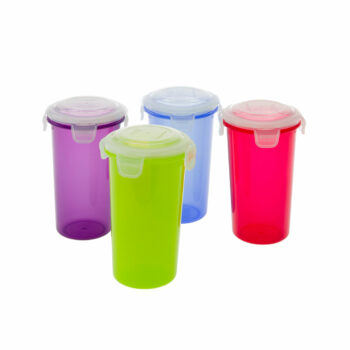 set-drinkbekers-4-delig-multicolor