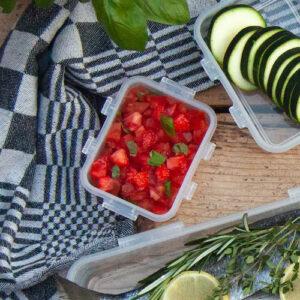 BBQ-recept: Bruscetta met tomaat en aardbei